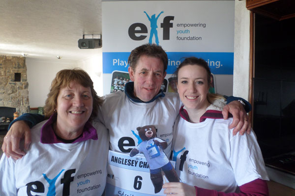 EYF team at event in Wrexham