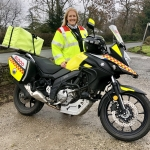 Blood Bikes' first female rider in North Wales