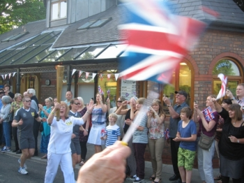 Torch Arrives in Historic City